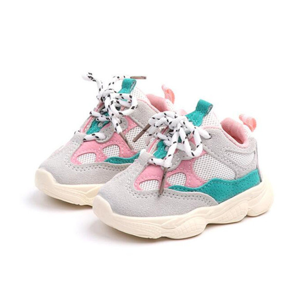 Boys Shoes Casual Children Shoes Mesh Breathable Mesh Fashion Kids Sneakers For Boys Girls Baby Shoes 0-2 Years Old Nc369 Y19051403