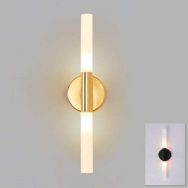 Modern metal tube pipe up down LED wall lamp light sconce Bedroom foyer washroom living room toilet bathroom wall light lamp LED