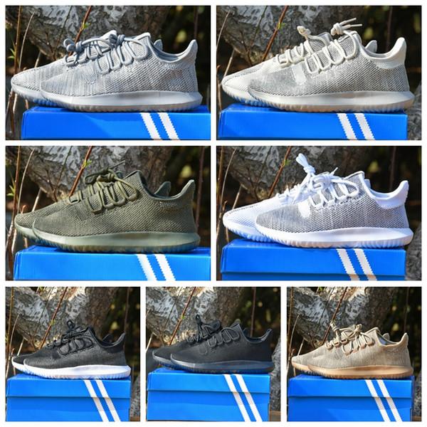 adidas Original Tubular Shadow Doom Primeknit Fitness Casual sapatos novos verão pequeno coco rede de lazer respirável macarrão jovens amantes movimento maré sapatos Tamanho 36-44