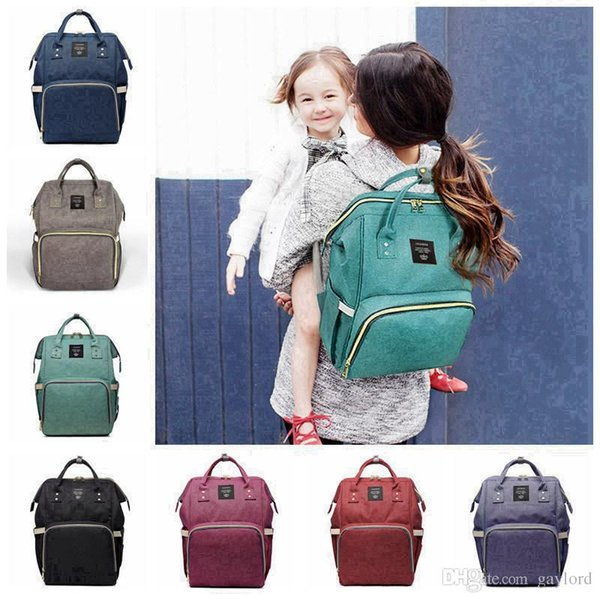14 Colors New Multifunctional Baby Diaper Backpack Mommy Changing Bag Mummy Backpack Nappy Mother Maternity Backpacks 3pcs H02g