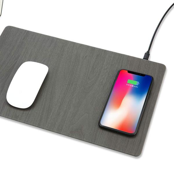 10w veloce senza fili del caricatore senza fili Qi Mouse Pad Mat di ricarica con indicatore LED 10W di carica per Android e 7.5W Compatibile per iPhone