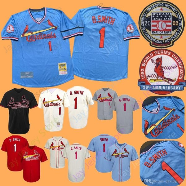 free shipping 16f9d 3bba1 2019 Ozzie Smith Jersey 1982 1992 MN Cooperstown Cardinals Home Away St.  Louis Jersey 2002 HOF Baseball Hall Of Fame Patch From Davidjersey, $16.26  | ...
