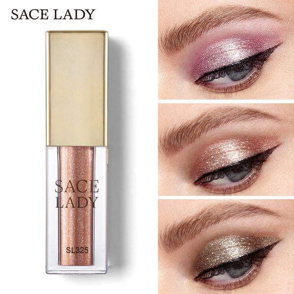 Sace Lady Glitter Shadow Makeup Waterproof Shimmer Eyeshadow Highlighter Cream Make Up Illuminator Eye Shadow Glow Kit Cosmetics
