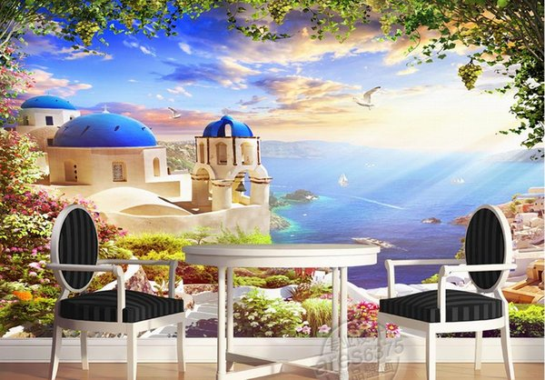 European Style 3D landscape Wallpaper Living Room Children's Bedroom Oil Painting Murals Wall Papers For Walls 3 D