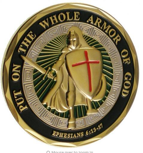 best selling DHLvfree shipping Unique Colorized - Put on the Whole Armor of God Challenge Coin 40PCS