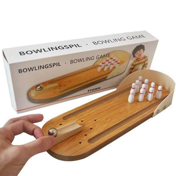 Mini Wooden Desktop Bowling Game Kids Children Developmental Toy Gift Decor Baby House Entertainment Toys