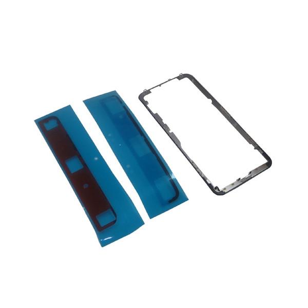 Soporte de pantalla OLED Marco de bisel frontal para iPhone X LCD agrietado Reemplazar accesorios con etiqueta de marco Jiutu
