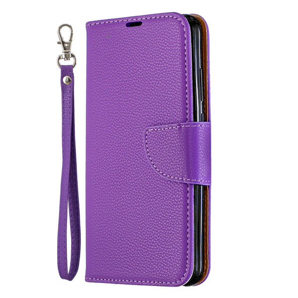 negozio online ddb29 45c61 Flip Cover Stand Wallet For Huawei P Smart Plus 2019/Honor 10i Case Pure  Color Lichee Pattern PU Leather Mobile Phone Cases Cell Phone Wallet Case  ...