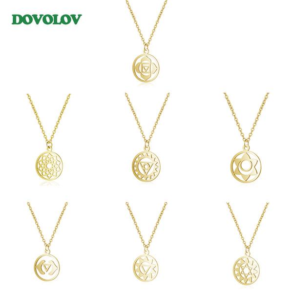 4 estilo flor de aço inoxidável da vida yoga colar de pingente de jóias colar artesanal presente para as mulheres d330