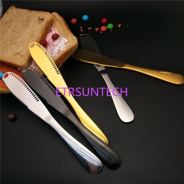 Couteau à beurre en acier inoxydable Fromage Dessert Épandeurs de confiture Couteaux à crème Ustensile Couverts Outils à dessert pour Toast Outil petit déjeuner