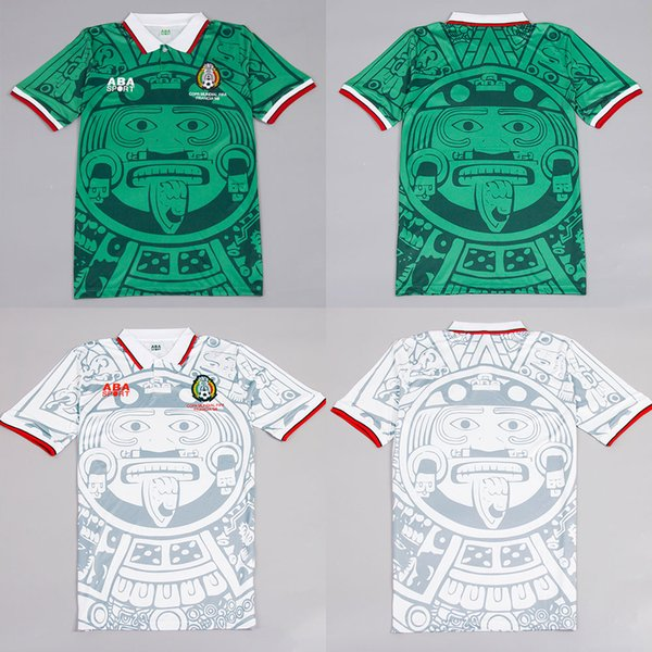 458ef1ad33c Classic 1998 Mexico Retro Jersey Vintage Soccer Jersey 98 World Cup Mexico  Home and Away Football