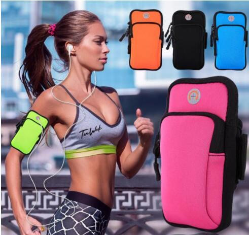 Universal Sports Arm Band Bag Case Running Workout Armband Holder Pouch Universal Cell Phones Arm Bag Band for iphone samsung galaxy