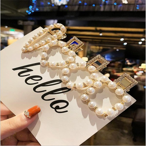 1pcs Hair Clips Simple Decorative Pearl Clip Fashion Barrettes Hair Styling Tools Accessories Pins for Girls Women Female