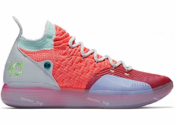 86ecb3decd63 2019 Top Quality KD 11 EYBL women kids Hot Punch Lime Blast Pure Platinum  free shipping Kevin Durant basketball shoes store US5-US12