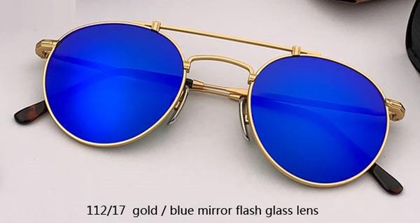 112/17 flash dorado / azul espejo