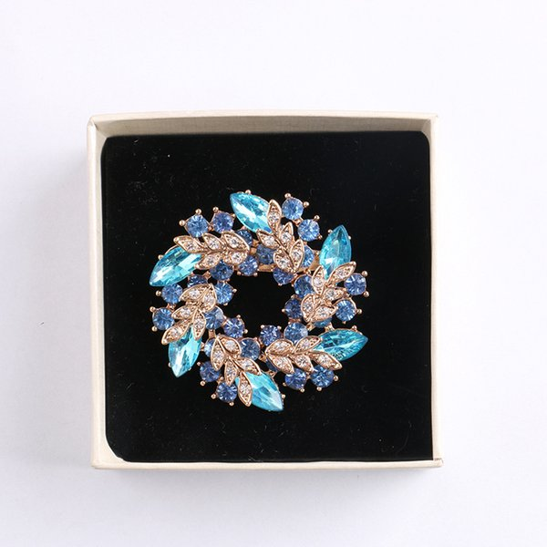 New High quality korean brooch crystal brooch environment friendly personalized gift wholesale women cute bauhinia brooch