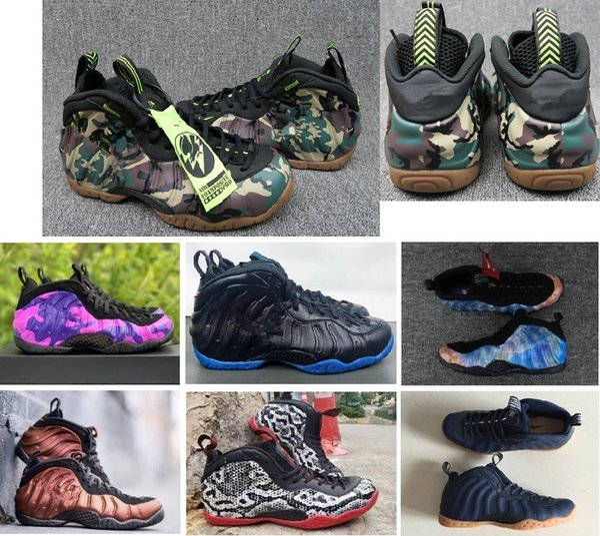 2020 Yeni Penny Hardaway Ordu Kamuflaj Çocuk Erkek Basketbol Ayakkabı Spor Sneakers Köpük Pro Bir Orman Siyah Kamuflaj Tasarımcı Eğitmen