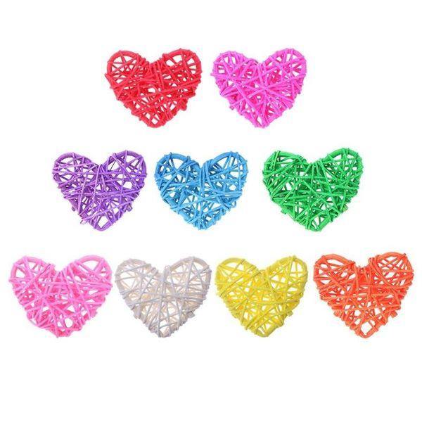 5pcs coeur boule de rotin bricolage anniversaire décoration de fête de mariage ornements cadeaux de la Saint Valentin pour garçon fille ami romantique 6cm