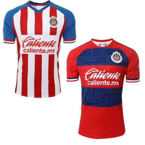 2019/20 MX Clube CHIVAS Jersey de Futebol Guadalajara 2020 O.PINEDA A.PULIDO Uniforme de Futebol G.SANDOVAL A.SEPULVEDA Camisas de Futebol