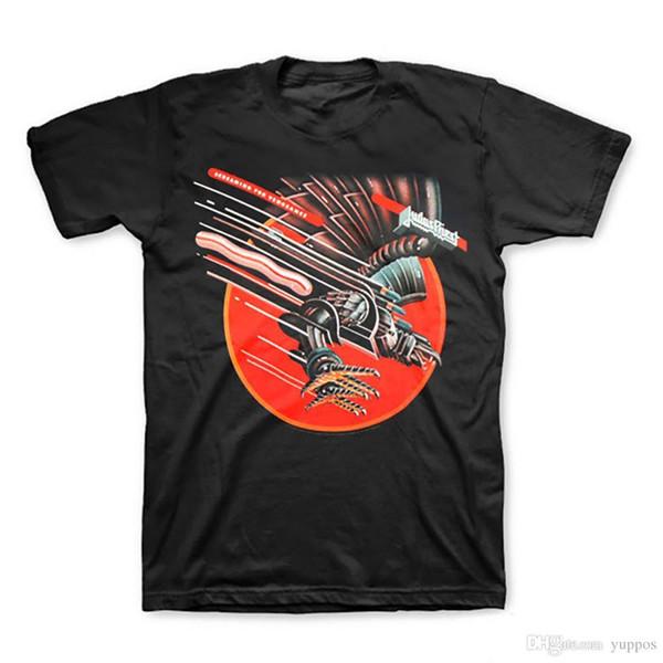 Camiseta con estampado de anime Nuevo Judas Priest Screaming for Vengeance Heavy Metal Shirt (S, M, L) Camisetas estampadas Streetwear para hombre