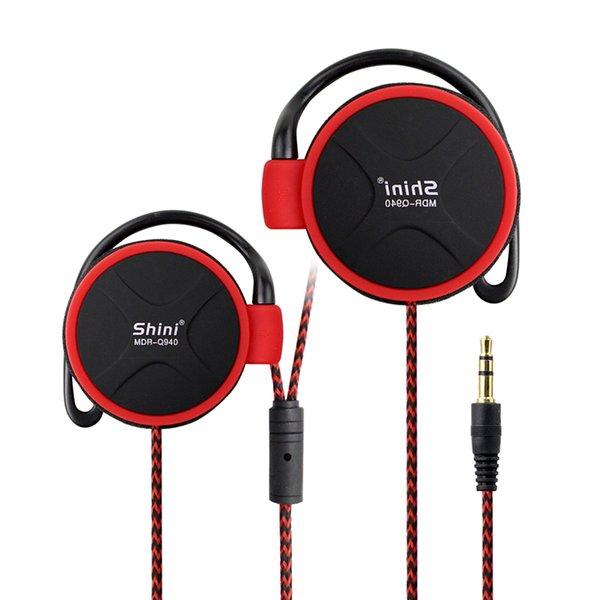SHINI Q940 Stereo Kulaklık bas müzik Kulaklık Kulak Kancası Kulaklık 3.5mm Cep Telefonu Kulaklık Için Fabrika Fiyat Toptan