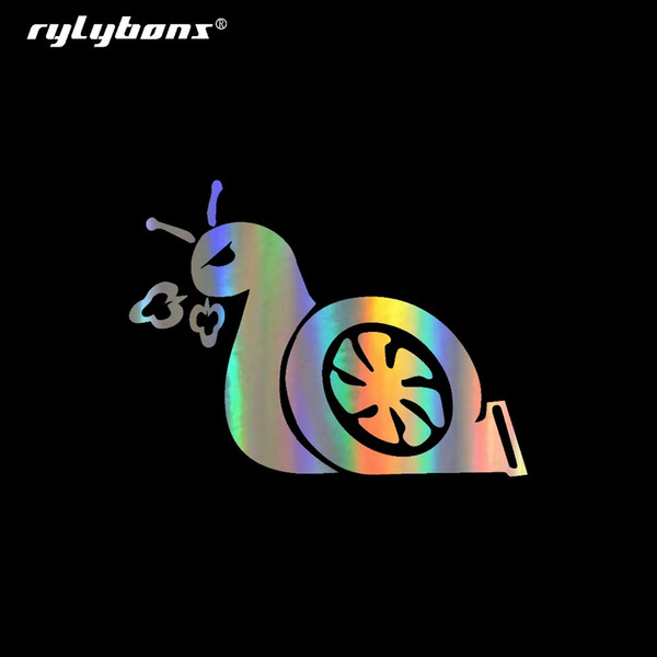 Rylybons Tail Snail Funny Cartoon Etiquetas de coche Puerta Cuerpo Ventana Parachoques de coche Stikers de vinilo Calcomanía Auto Truck Styling Accesorios