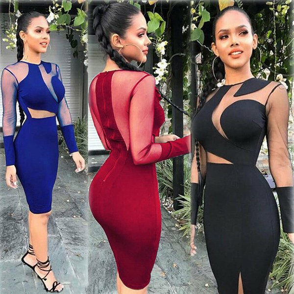 Women Long Sleeve Sexy And Charming Bodycon Dress Ladies Casual Party Clubwear Mini Dresses Summer Beach Clothes
