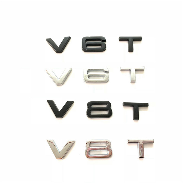 V8T Emblem Decal Badge for Audi