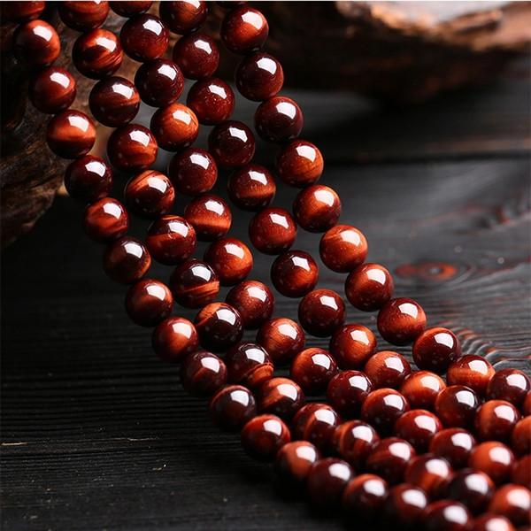 Natural Rodada Tiger-olho Vermelho Ágata Stone Beads 10MM Vermelho Tiger Eye Gemstone Strands