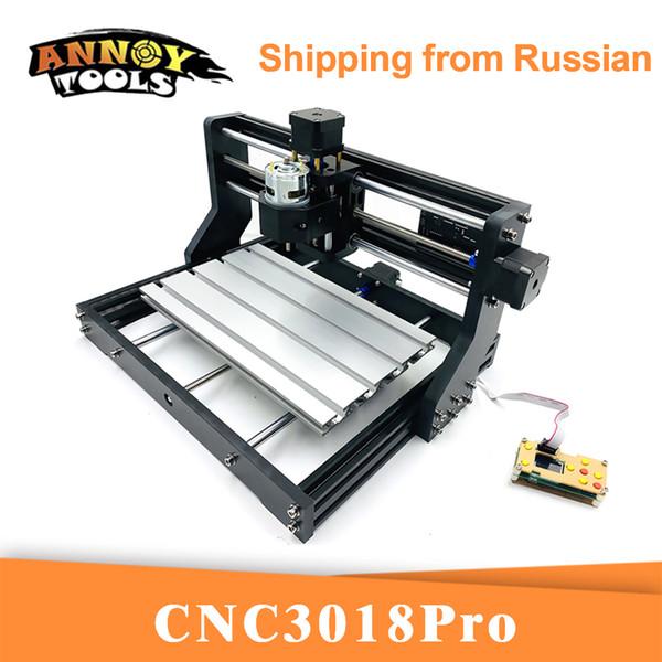 CNC 3018Pro Grabador láser GRBL 1.1 Cortador CNC, fresadora de 3 ejes, grabado láser de enrutador de madera, trabajo fuera de línea 5500MW / 15000mW