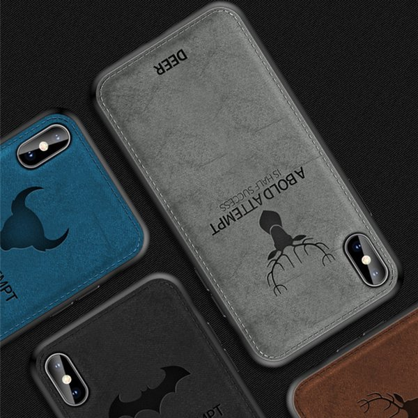 Soft Cloth Phone Cases Cover TPU Cell Phone Covers For IPHONE XS MAX XR 6 7 8 Plus XiaoMi Vivo OPPO Reno Huawei