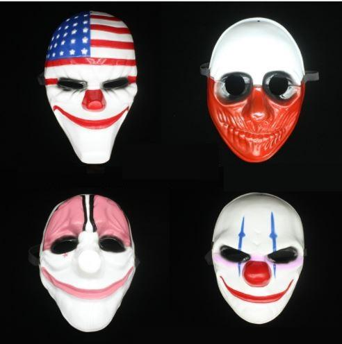 New Pattern Halloween Face Mask Payday2 Series High Grade Game Theme Masks Of The Clown Stars And Stripes 100PC h99