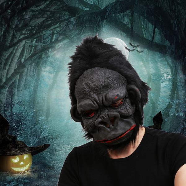 Orangutan maschera di Halloween spaventoso Ape mascherina di orrore del silicone di Cosplay Orangutan Orangutan Maschera Costume Party piede rifornimento Giocattoli RRA2642
