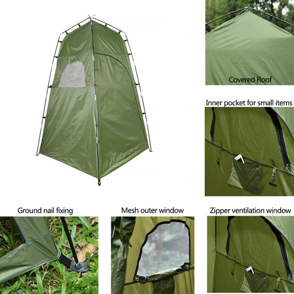 Outdoor Shower Bath Tent Portable Beach Tent Changing Fitting Room Multifunction Camping Privacy Toilet Shelter Beach