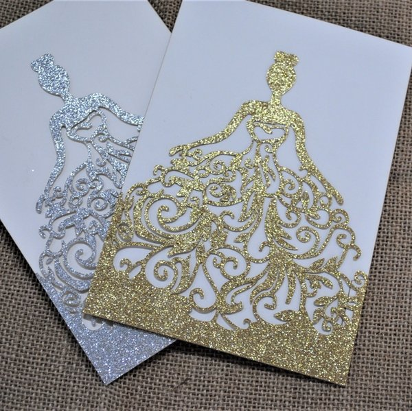 Luxury Lace Pink Wedding Invitations Delicate Design New Glitter Paper Girl S Birthday Invitation Card Wedding Card Y19061704 Free Animated Birthday