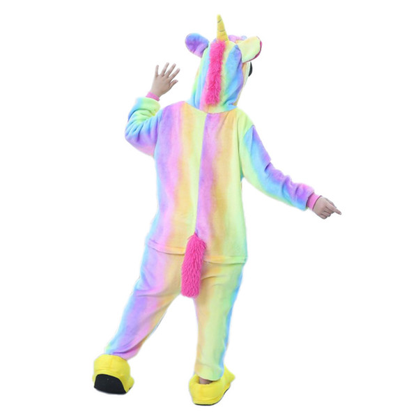 Unicorn Pajamas For Boys Girls Pajamas Cartoon Children Onesies Hooded Kids Sleepwear Cosplay Baby Pijamas For 4 6 8 12 Years J190520