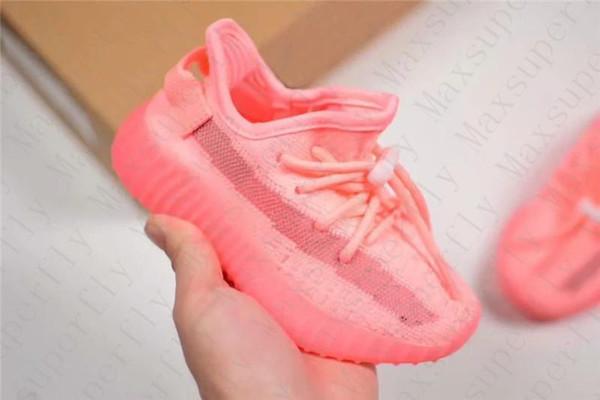 Kanye West V2 Static Baby Scarpe da corsa per bambini True Form Hyper Wave Runner Clay BELUGA Bianco Scarpe sportive riflettenti ragazzo ragazza sneaker