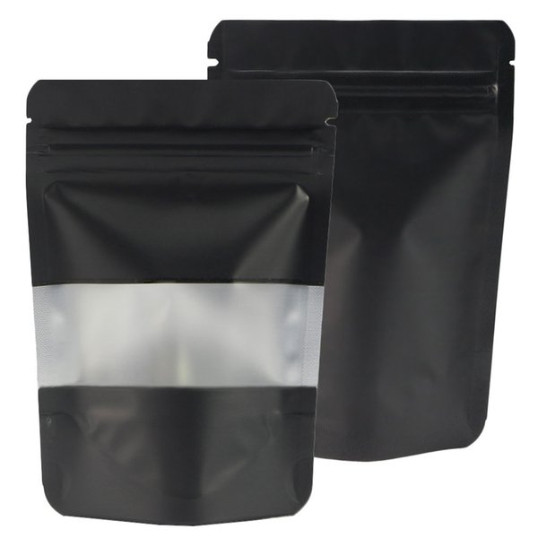 Stand Up Mylar Package Bag Plastic Packaging Opp Bag For Food Snack Ziplock Bag with window