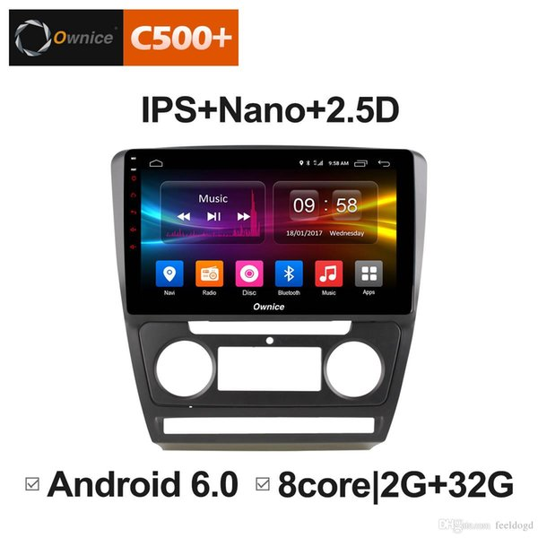 """10.1"""" 2.5D Nano IPS Screen Android Octa Core/4G LTE Car Media Player With GPS RDS Radio/Bluetooth For Skoda Octavia 2007-2014 #5839"""