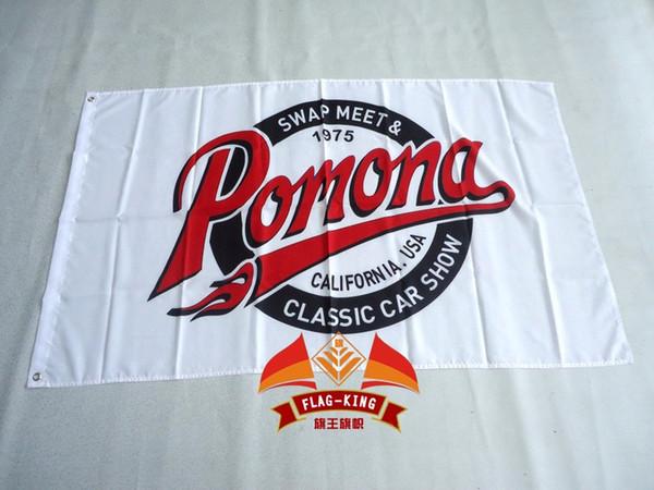 pomona swap meet classic car show flag 90 * 150CM poliéster pomona banner