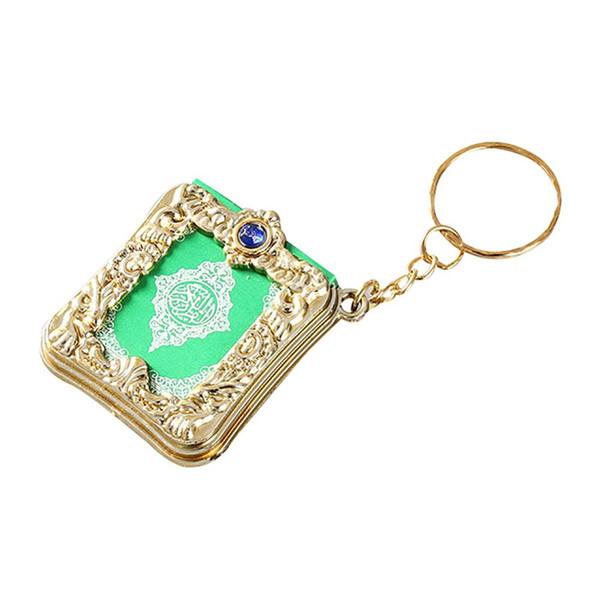 Abnehmbare schlüsselanhänger arabischen koran buch mini anhänger schlüsselbund tasche auto hängen schlüsselanhänger für geburtstag schmuck geschenkbeutel ornament