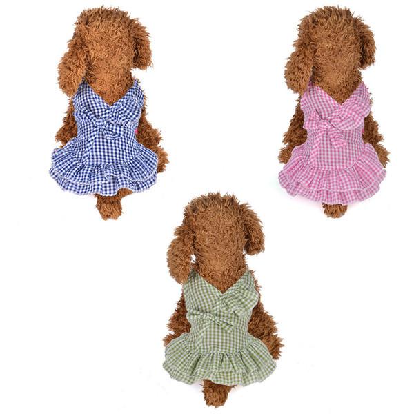 Lattice Sling Dot Pet Dress Summer Pink Dress Dog Clothes Skirt Pet Puppy Dog Princess Costume Vestido Para Cachorro Hot Sell