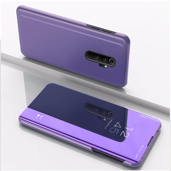 Couro Galvanoplastia Espelho suporte Virar Capa Para Xiaomi redmi Nota 8 Pro Nota T8 Note7 redmi 8 8A Mi CC9 Pro MI9 A3