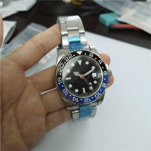silver black blue bezel