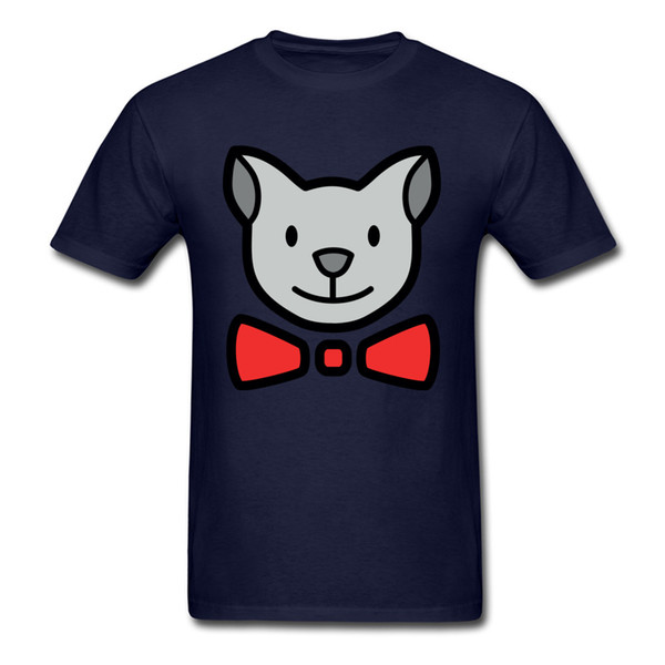 Leisure Cute Cat T-Shirt Fitted Male T Shirt Men Tshirts Classic Cartoon Print Clothes Summer O Neck Cotton Tees Top Quality
