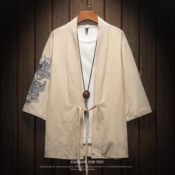Chemise Kimono Kaki
