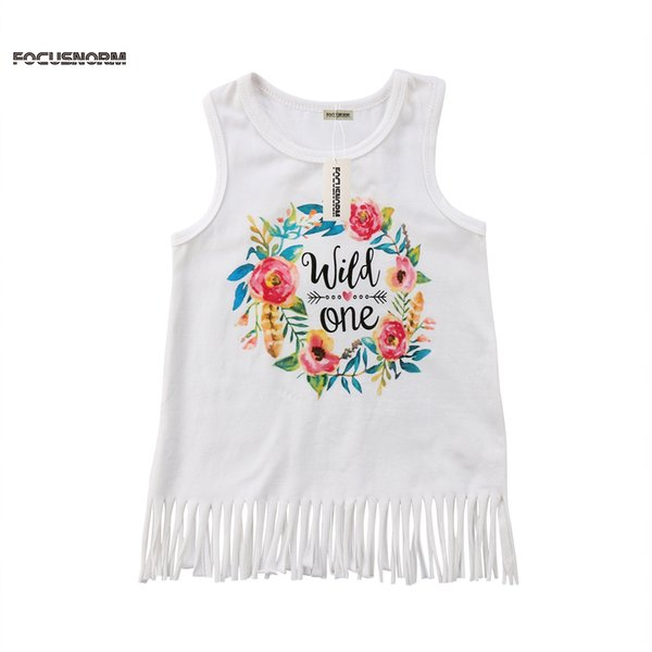 New Pretty Girl Kids ребенок платье принцессы письмо печать цветочные Summer Party одежда без рукавов сладких Стильной кисточки платья 2018 года