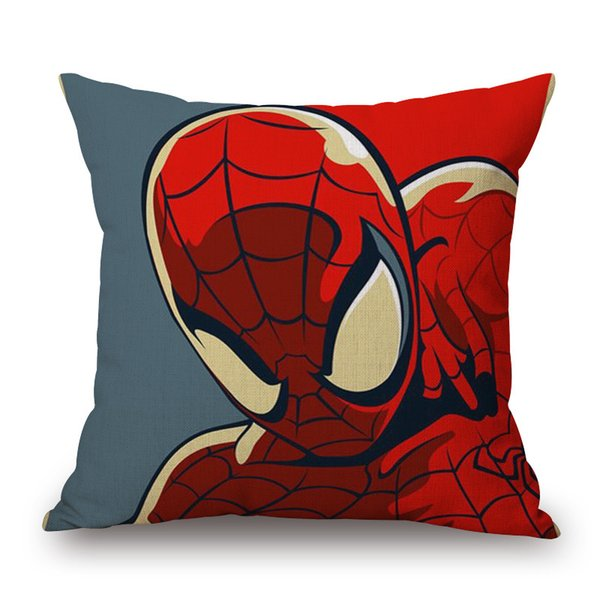 Astounding Spiderman Ironman The Hulk Cushion Covers Super Hero Linen Pillow Case 45X45Cm Sofa Chair Decor Discount Outdoor Chair Cushions Patio Cushion Sets Evergreenethics Interior Chair Design Evergreenethicsorg