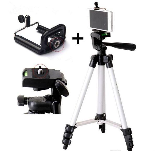 Trépied Portable 4 Sections Trépied + Support Téléphone Pour Téléphone Portable Smartphone Canon Sony Nikon Compact Caméra Livraison Gratuite