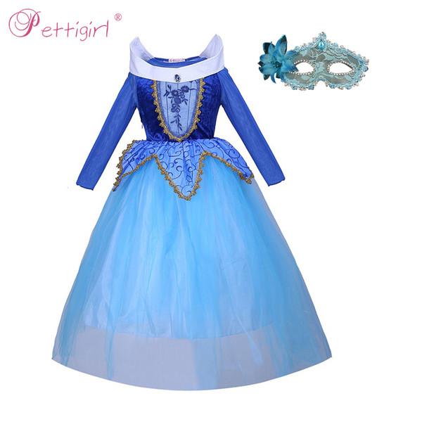 Pettigirl La Belle Au Bois Dormant Princesse Aurora Habille Pour Fille Party Costume Cosplay Pour Halloween Anniversaire Fantaisie Costume G-NBGD1009-2909